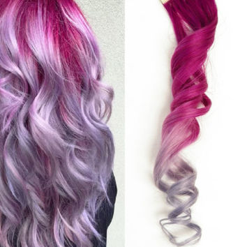 20x Tape in Skin Pink Metallic light Purple Lavender Ombre Human Hair Extensions