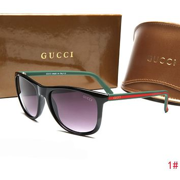GUCCI Fashion Women Men Red Green Stripe Frame Sunglasses Sun Shades Eyeglasses Glasses 1# I-ZXJ
