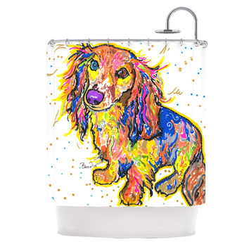 "Rebecca Fischer ""Leela"" Daschund Shower Curtain"