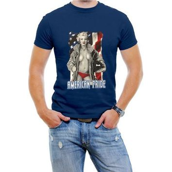 Marilyn Monroe USA Men T-Shirt Assorted Colors