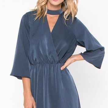 Good Spirits Satin Keyhole Dress by EVERLY