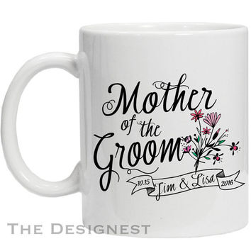 Mother of the Groom Gifts, MOTG, Gift for Mother of the Groom, Coffee Mug, Personalized Wedding Mugs,