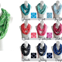 Quatrefoil Infinity Scarf Personalized with your Monogram!