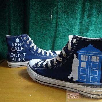 VONR3I Doctor Who painted shoes painted on local brand only 55Usd Converse only 92USD High To