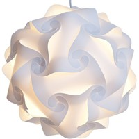 Lightingsky Ceiling Pendant DIY IQ Jigsaw Puzzle Lamp Shade Kit with 40 Inch Hanging Cord (White, Large-40cm)