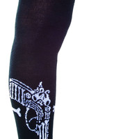 Too Fast Bone Gun Garter Socks Black One