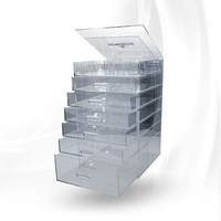 Impressions Vanity 7-Tier Acrylic Makeup Organizer with Flip Open Top - Impressions Vanity Co.