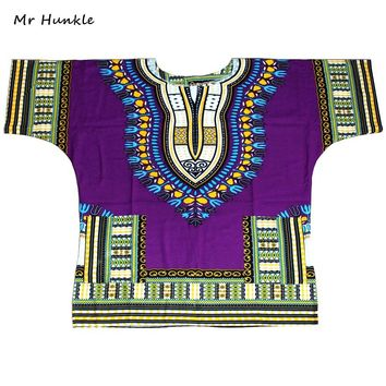 Mr Hunkle Plus Size XXXL Dashiki T-shirt 100% Cotton African Traditional Print Dashiki Shirt for Men fast shipping