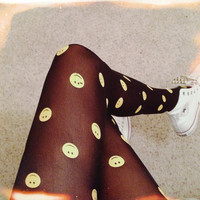 Happy Face Tights / 90's Grunge Tights