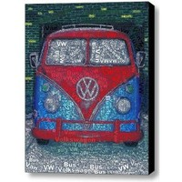Abstract Volkswagen VW Bus Van wild Framed 9x11 Inch Limited Edition with COA