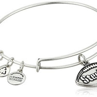 Alex and Ani Pittsburgh Steelers Football Expandable Rafaelian Silver Bangle Bracelet