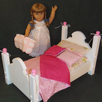 Victorian Style Doll Bed Fits American Girl Doll and 18 Inch Dolls