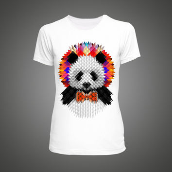"""PANDA LOVE"" Cute Panda Anime Print Womens Tshirt"