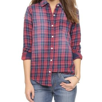 Joe's Jeans Mischa Double Woven Plaid Shirt