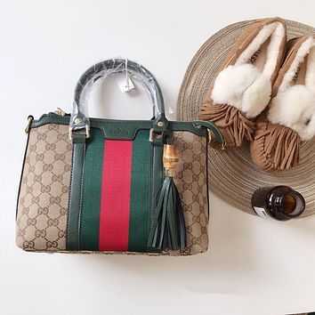 GUCCI Web GG Top Handle Bag
