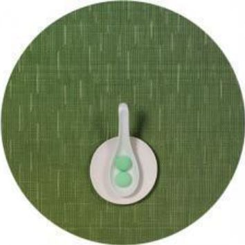 CHILEWICH Bamboo Round Placemats S/4 | Lawn Green