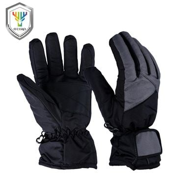 OZERO New Winter Warm Work Gloves Driver Sports Windproof Waterproof Security Protection Safety Working For Woman Ski Glove 9001