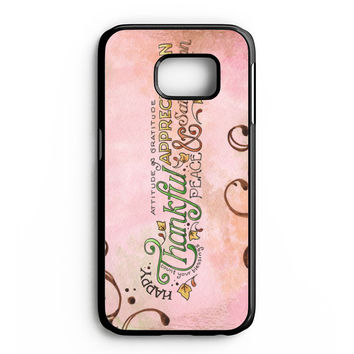 Happy Thankful Appreciaton Samsung Galaxy S6 Edge Case