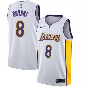 Los Angeles Lakers Swingman White Kobe Bryant #8 Jersey - Icon Edition - Youth