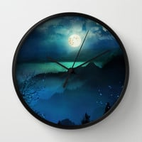 Wish You Were Here (Chapter V) Wall Clock by Viviana Gonzalez