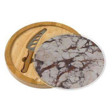 Marble Texture Stone Image Round Cheese Board