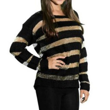 Shimmer Metallic Sweater