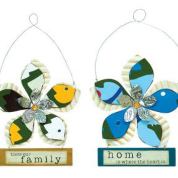 4 Wall Plaques - Family And Home Theme