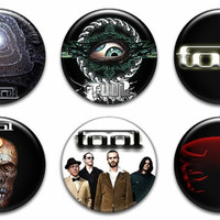 Tool Band Pinback Buttons Badges Pins