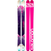 Salomon Q-103 Stella Ski - Women's White/Purple/Pink,