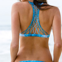 The Girl and The Water - Mikoh Swimwear - Miyako Bikini Bottom / Underwater Sea - $78