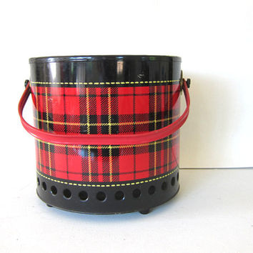 20% OFF SALE Vintage 1950's Hamilton Skotch Grill. Plaid and Portable. Perfect for Picnics & BBQ's
