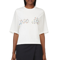 3.1 Phillip Lim White Studded Poodle T-shirt