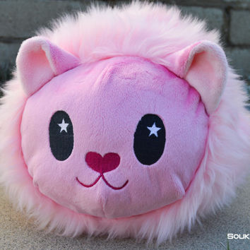 SMALL Lion Roll Plush // Steven Universe Fanart Loaf Plush//Pink Kitty Cat Plushie // Handmade Stuffed Animal Toy // Made to Order