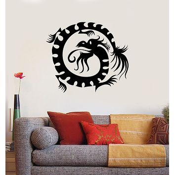Wall Decal Oriental Mythological Chinese Funny Fantasy Dragon Unique Gift (n1195)