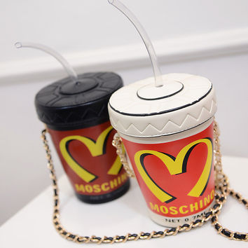 Summer Straw Cup Chain Phone One Shoulder Bags Strong Character Purse [6050450753]