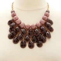 Faceted Teardrop Cluster Necklace