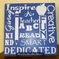 Teacher Wall Sign- Custom Wood Sign - Wood Board Home Decor