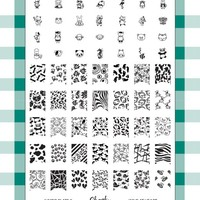 Nail Art Jumbo Stamp Stamping Manicure Image Plate 9 Wild At Heart by Cheeky®