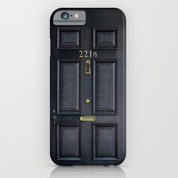 Classic Old sherlock holmes 221b door iPhone 4 4s 5 5c, ipod, ipad, tshirt, mugs and pillow case iPhone & iPod Case by Three Second