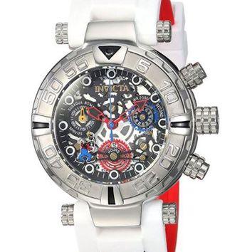 Invicta 24515 Women's Disney Limited Edition Quartz Stainless Steel and Silicone Casual White Watch