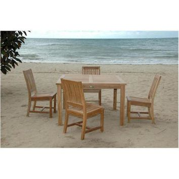 "Anderson Teak Windsor 47"" Square Table + 6 Rialto Dining Chairs"