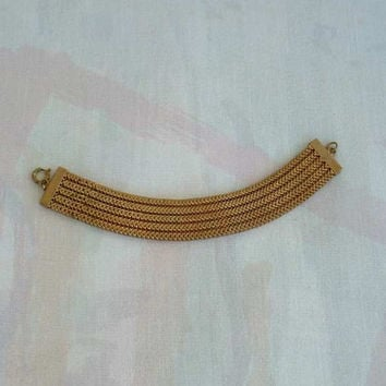 Chainmail Mesh Bracelet 5 Rows Vintage Jewelry