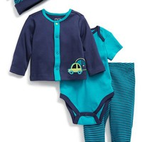 Infant Boy's Offspring 'Cars - Take Me Home' Long Sleeve T-Shirt, Bodysuit, Footed Pants & Hat