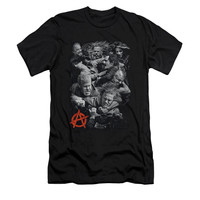 SONS OF ANARCHY GROUP FIGHT Short Sleeve Slim fit T-Shirt