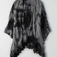 Don't Ask Why Tie Dye Kimono , True Black