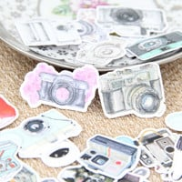 35pcs Self-made Retro Camera Illustration Cameras Scrapbooking Stickers DIY Craft DIY Sticker Pakc Photo Albums Deco Diary Deco