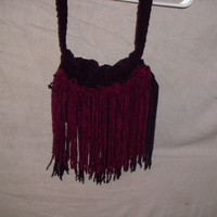 Handmade Crocheted suede purse by CanadianCraftCritter on Etsy