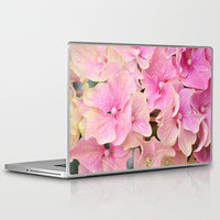 Pink Hydrangeas Laptop & iPad Skin by Lisa Argyropoulos | Society6