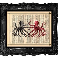 FREE SHIPPING WORLDWIDE Octopus Lovers Tentacle by BlackBaroque