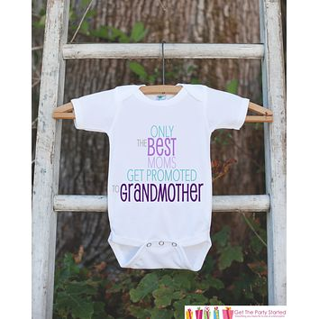 Pregnancy Announcement - Best Moms Get Promoted to Grandmother - Pregnancy Reveal Idea - Surprise Baby Announcement - Grandparents to Be